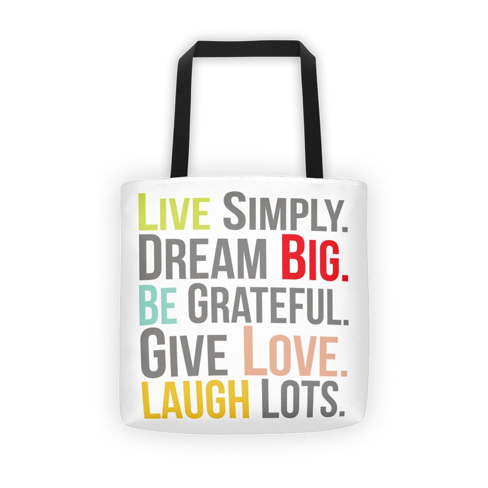 Tote Bag - Live Simply Dream Big Tote Bag