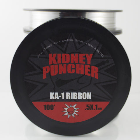 Kidney Puncher- Kanthal A1 Ribbon Wire 100ft - vape-hyper