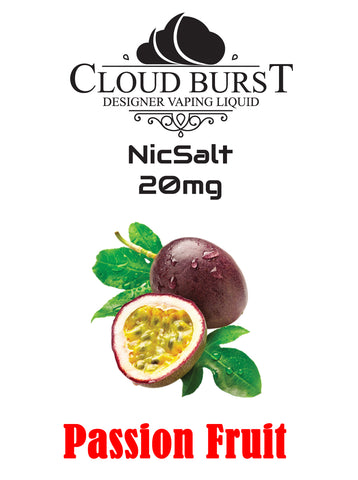Cloudburst Nic Salts - Passion Fruit
