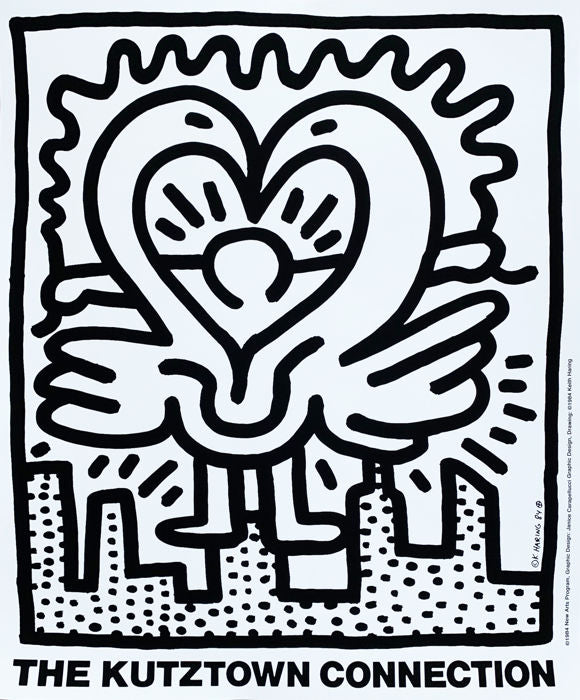 Keith Haring 'Kutztown Connection', Original Pop Art Poster, Plate Signed, 1984