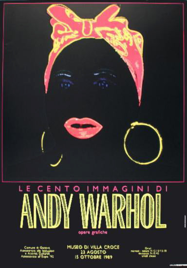 Andy Warhol 'Mammy', Original Pop Art Poster, 1989