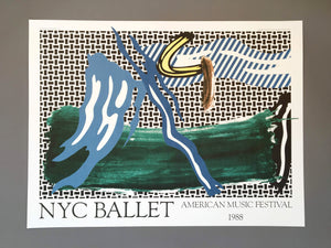 Roy Lichtenstein 'NYC Ballet', Original Pop Art Poster, 1988
