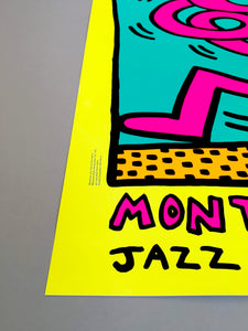 Keith Haring 'Montreux Jazz Festival I', Original Pop Art Poster, Plate Signed, 1983