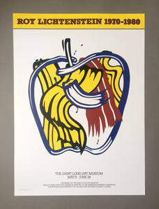 Roy Lichtenstein 'Apple', Original Pop Art Poster, 1981