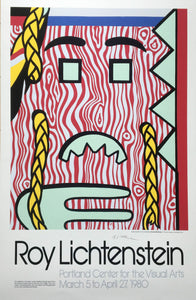 Roy Lichtenstein 'Head with Braids', Original Pop Art Poster, Hand Signed, 1980