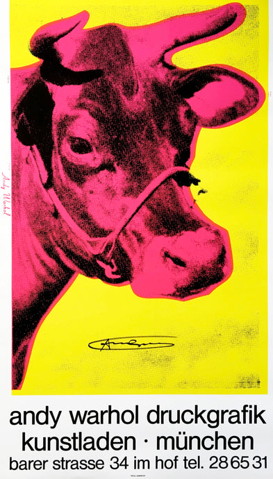 Andy Warhol 'Cow Wallpaper (Yellow)', Original Pop Art Poster, Hand Signed, 1983
