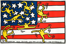 Keith Haring 'New York City Ballet', Original Pop Art Poster, Hand Signed, 1988