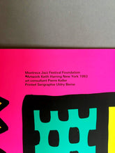 Keith Haring 'Montreux Jazz Festival II', Original Pop Art Poster, Plate Signed, 1983