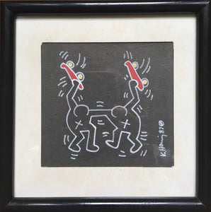 Keith Haring 'Untitled (Skateboards)', Original Pop Art Drawing, Hand Signed, 1987