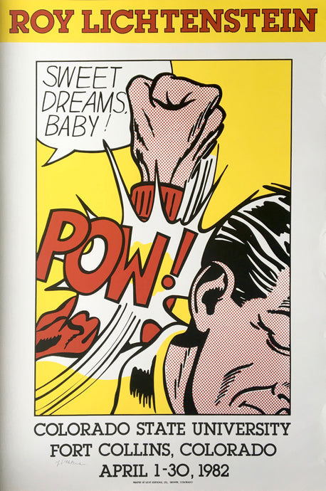 Roy Lichtenstein 'Sweet Dreams, Baby!', Original Pop Art Poster, Hand Signed, 1982