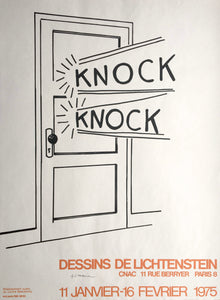 Roy Lichtenstein 'Knock Knock', Original Pop Art Poster, Hand Signed, 1975