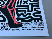 Keith Haring 'Into 84', Original Pop Art Poster, Hand Signed, 1983