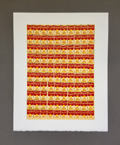 Andy Warhol '100 Cans', Original Pop Art Poster, 1991