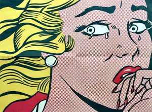 Roy Lichtenstein 'Crying Girl (Leo Castelli Mailer)', Original Pop Art Poster, Hand Signed, 1963