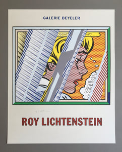 Roy Lichtenstein 'Reflections on Girl', Original Pop Art Poster, Hand Signed, 1990