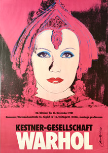 Andy Warhol 'Greta Garbo', Original Pop Art Poster, Hand Signed, 1981