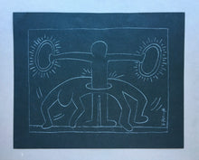 Keith Haring 'Untitled (Glowing Halos)', Original Pop Art Drawing, Hand Signed, 1980s