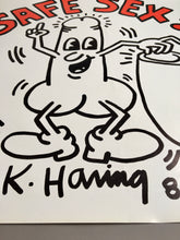 Keith Haring 'Safe Sex!', Original Pop Art Poster, Plate Signed, 1987