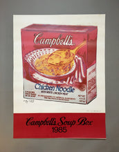 Andy Warhol 'Campbell's Soup Box', Original Pop Art Poster, Hand Signed, 1985