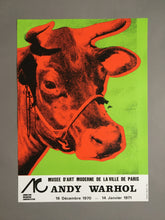 Andy Warhol 'Cow Wallpaper (Green)', Original Pop Art Poster, Hand Signed, 1970