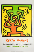 Keith Haring 'Headstand', Original Pop Art Poster, Plate Signed, 1998