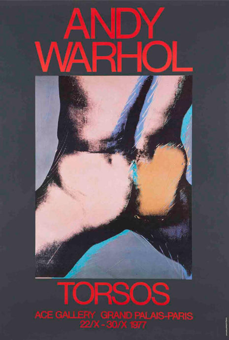 Andy Warhol 'Torsos', Original Pop Art Poster, 1977