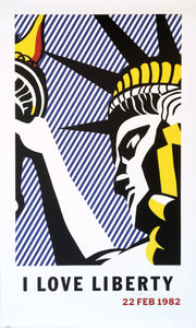 Roy Lichtenstein 'I Love Liberty', Original Pop Art Poster, Hand Signed, 1982