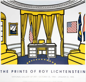 Roy Lichtenstein 'Oval Office', Original Pop Art Poster, 1994