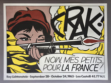 Roy Lichtenstein 'Crak!', Original Pop Art Poster, Hand Signed, 1963