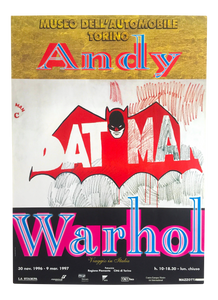 Andy Warhol 'Batman', Original Pop Art Poster, Plate Signed, 1997