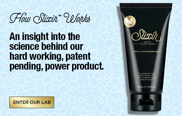 SLIXIR Hand and nail cream. HOW SLIXIR™ WORKS. An insight into the science behind our hard working, patent pending, power product. ENTER OUR LAB