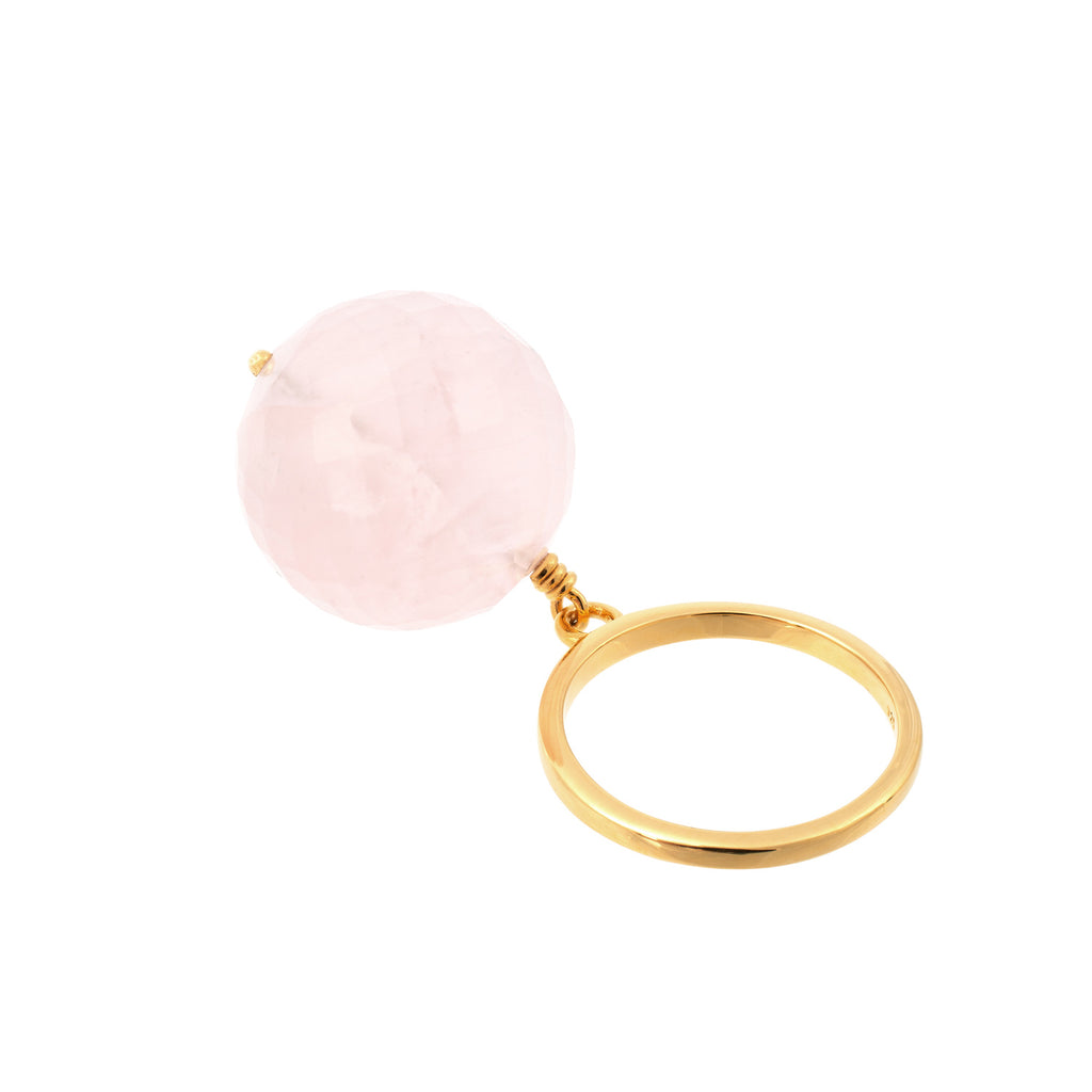 BUBBLE PINK QUARTZ RING - Amadeus Bijoux sustainable jewelry handmade in the UK