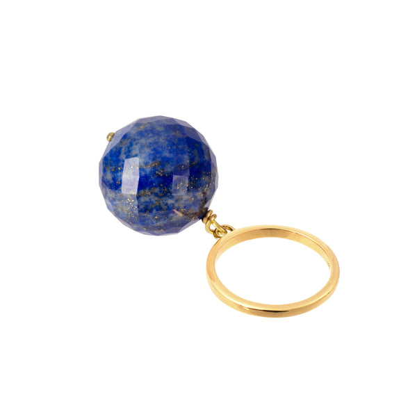 Sustainable Lapis Lazuli ring in gold vermeil by Amadeus Jewellery