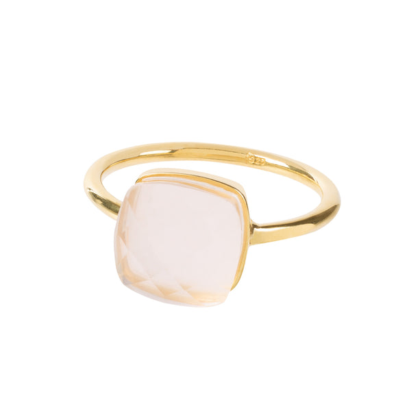 SOPHIA PINK QUARTZ RING - Amadeus Bijoux sustainable jewelry handmade in the UK