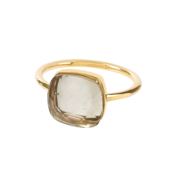 Sophia Prasiolte Ring handmade by Amadeus ethical jewellery