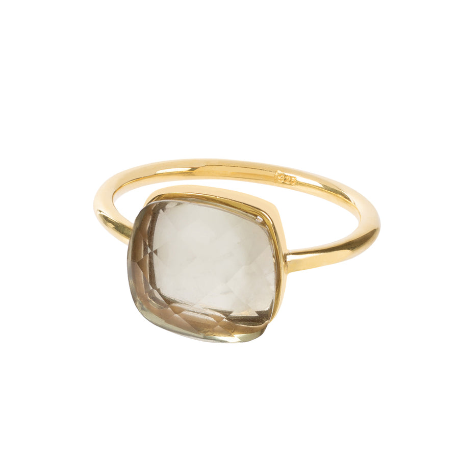 SOPHIA PRASIOLTE RING - Amadeus Bijoux sustainable jewelry handmade in the UK