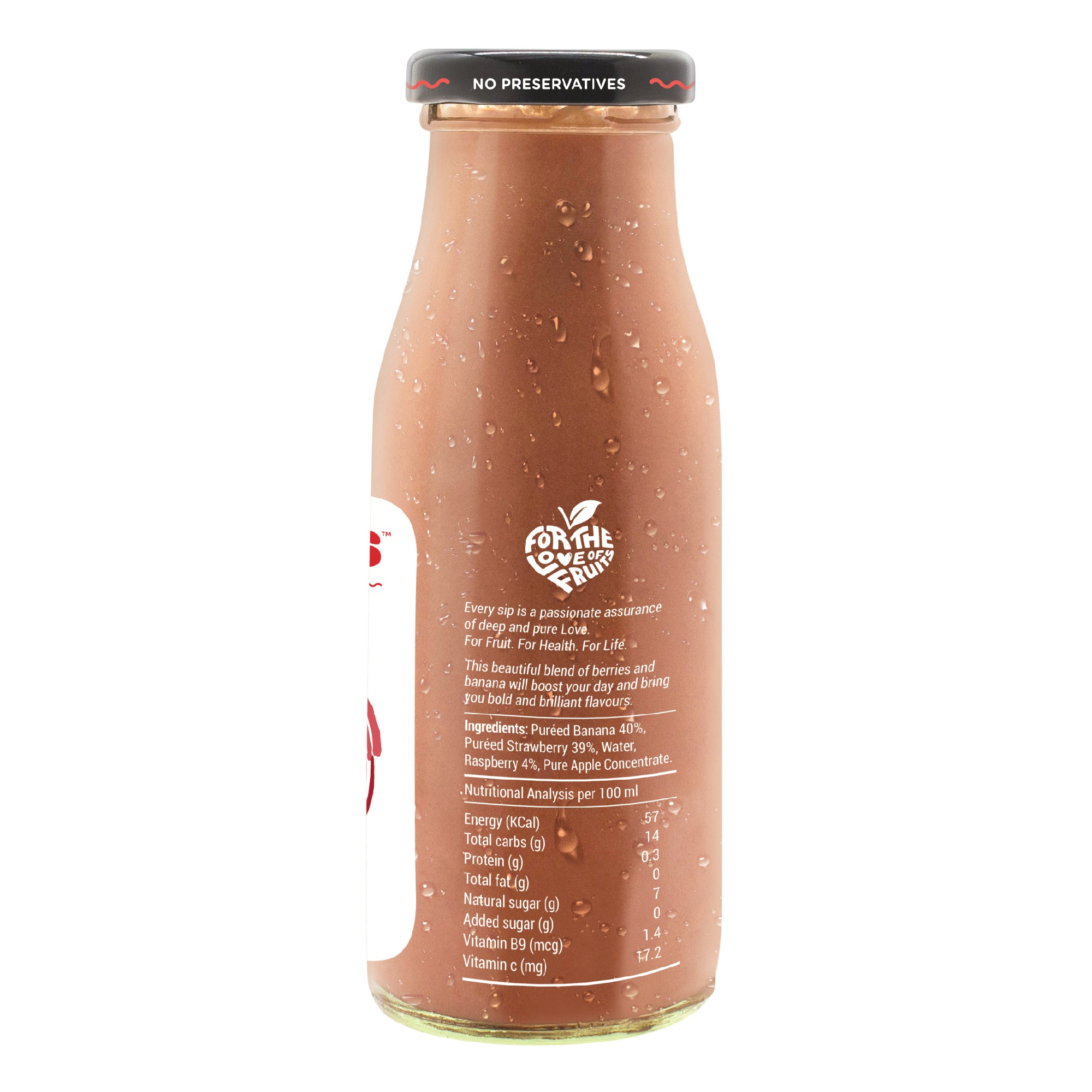 Bold Berries (Strawberry & Raspberry) Smoothie - 200 ML