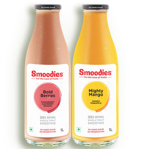 Mango & Strawberry Smoothie Pack, 1 Litre (Pack of 2)
