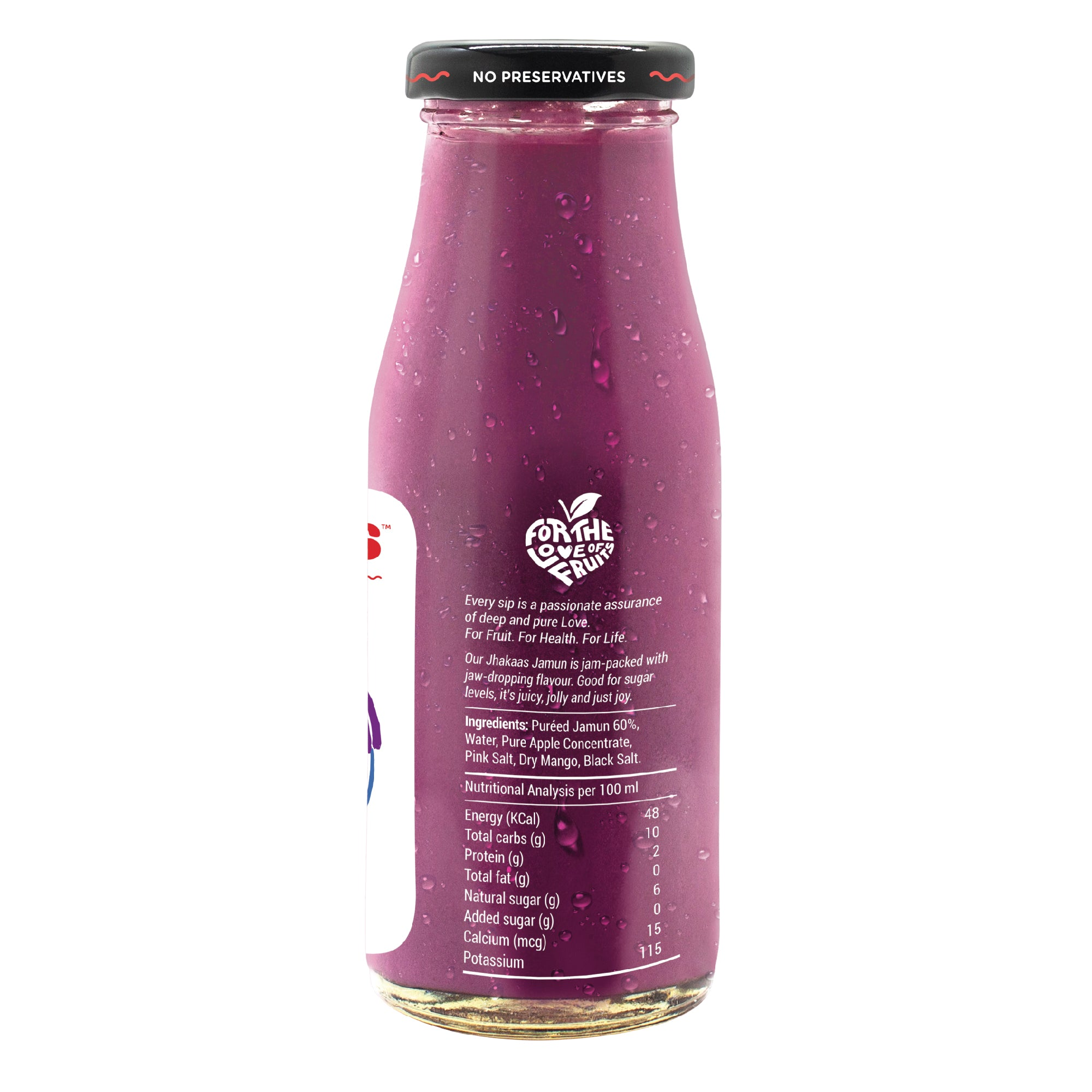 Jhakkas Jamun & Black Salt Smoothie - 200 ML