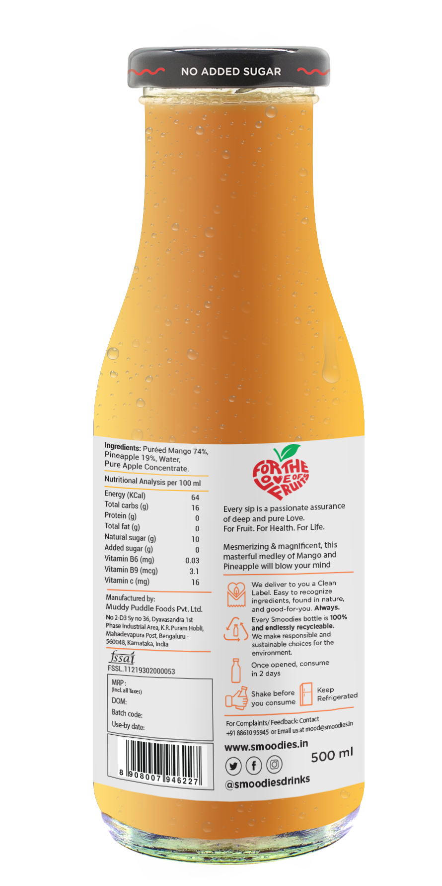 Mighty Mango Smoothie - 500 ML
