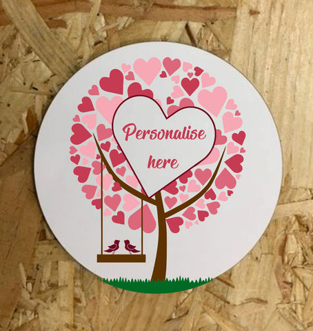 Love Heart Tree Coaster