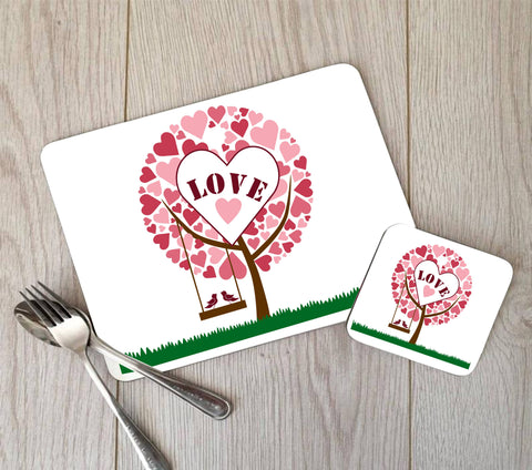 Love Heart Tree Placemat
