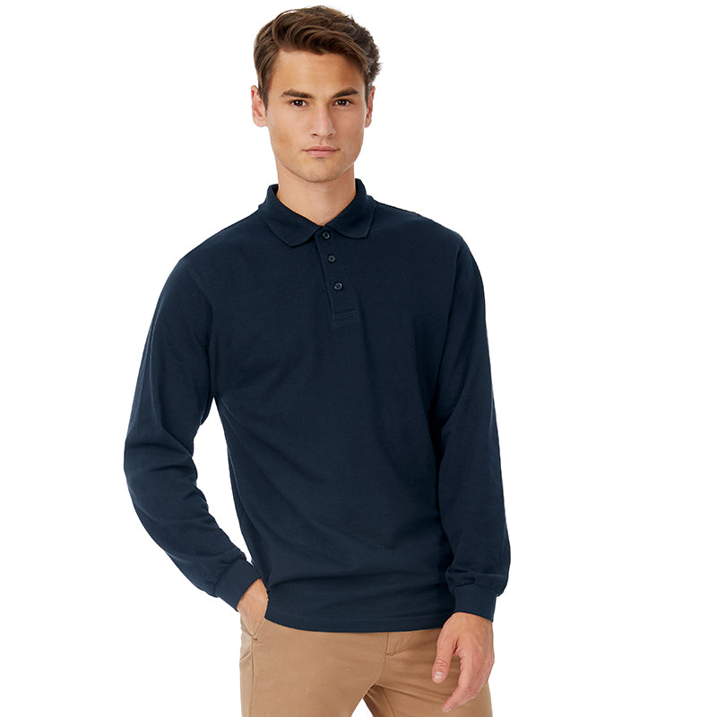 Long Sleeved Safran B&C Polo