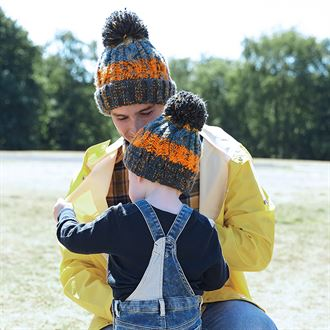Corkscrew Pom Pom Junior Beanie