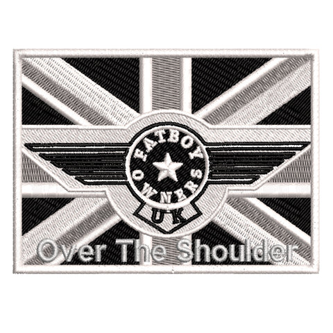 Fatboy Owners - Over The Shoulder Badge 10cm INCLUDES £2 DELIVERY