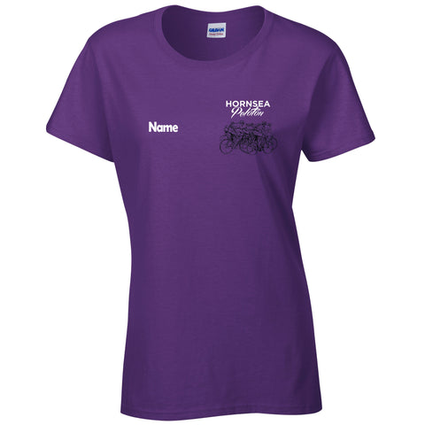 Hornsea Peloton Ladies T-shirt Gildan - Purple