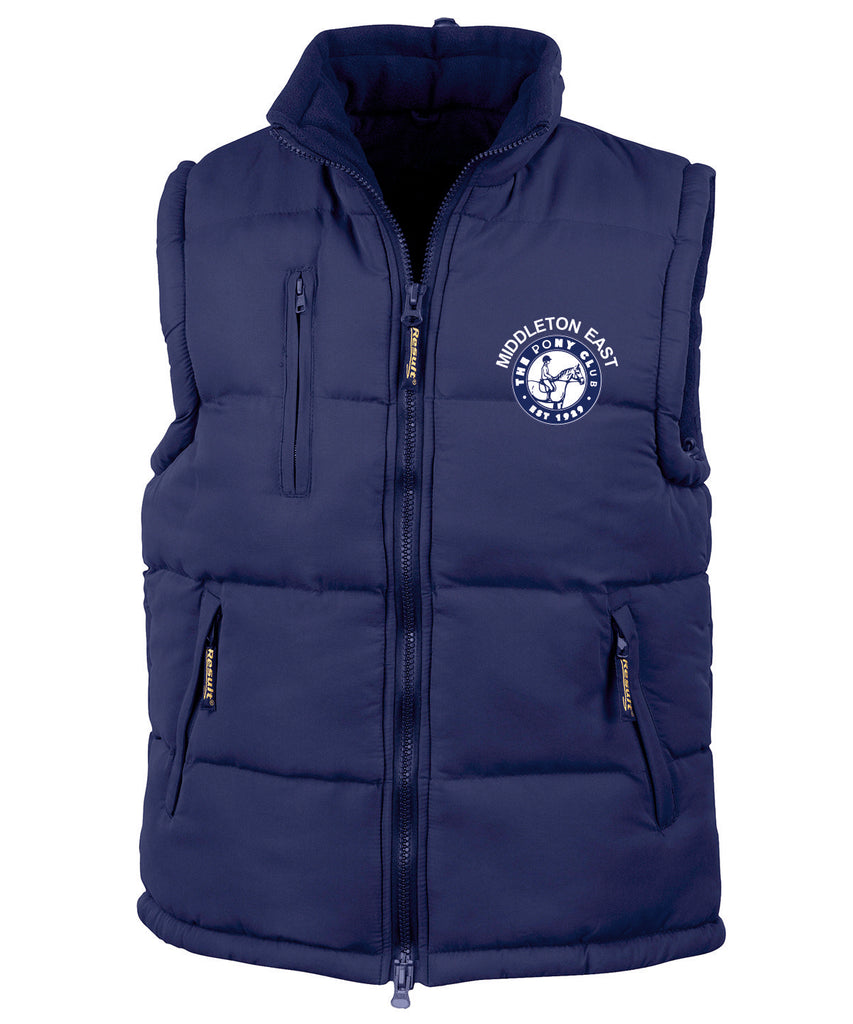 Middleton East Pony Club Ultra Padded Bodywarmer