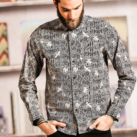 Idris - long sleeve full printed shirt