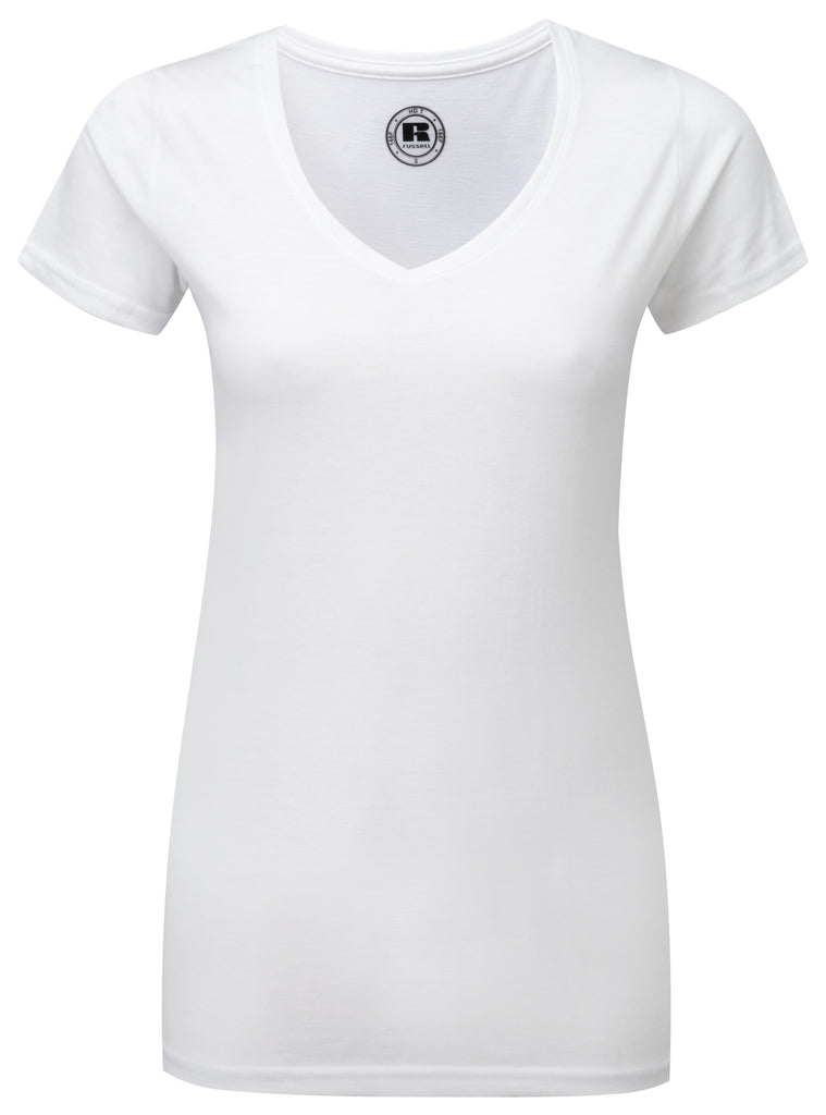R166F - Ladies V Neck HD T