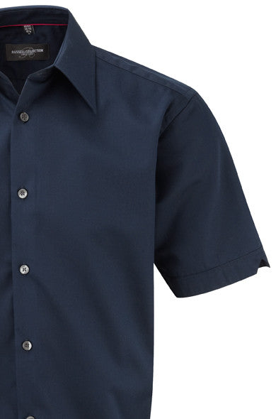 R955M - Men's Short Sleeve Tencel Fitted Shirt